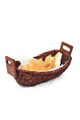 Handmade Sabai Grass Bread Basket - Small (Brown)