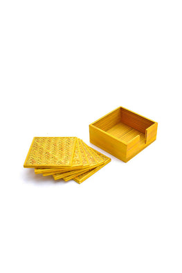 Handmade Bamboo Coasters (Yellow)