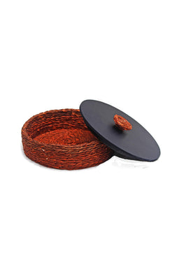 Handmade Sabai Grass Roti Box (Orange)