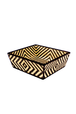 Handmade Bamboo Fruit Basket - Large (Black)