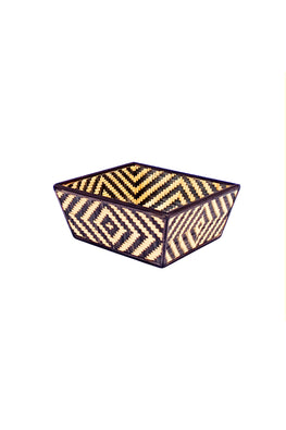 Handmade Bamboo Fruit Basket - Small (Black)