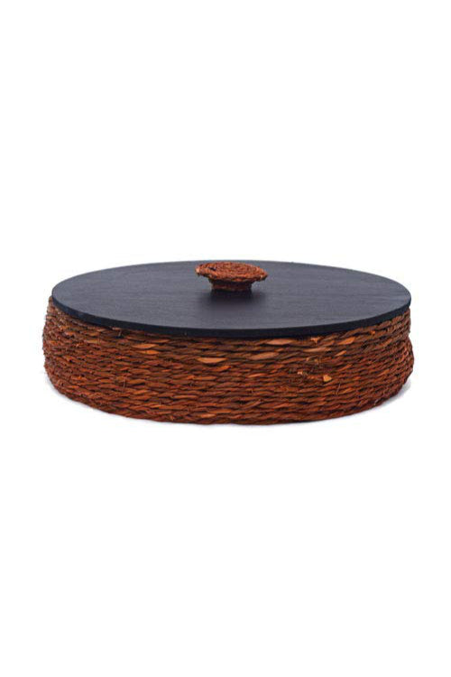 Handmade Sabai Grass Roti Box (Brown)