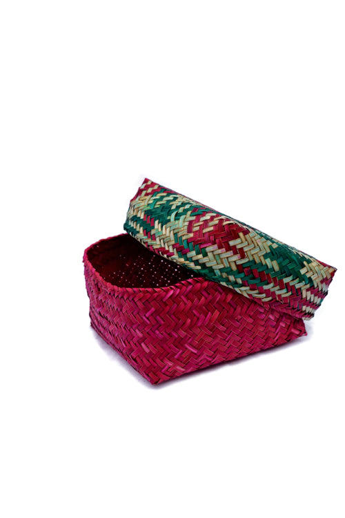 Handmade Sitalpati  Gift Box Set of 3 (Red)