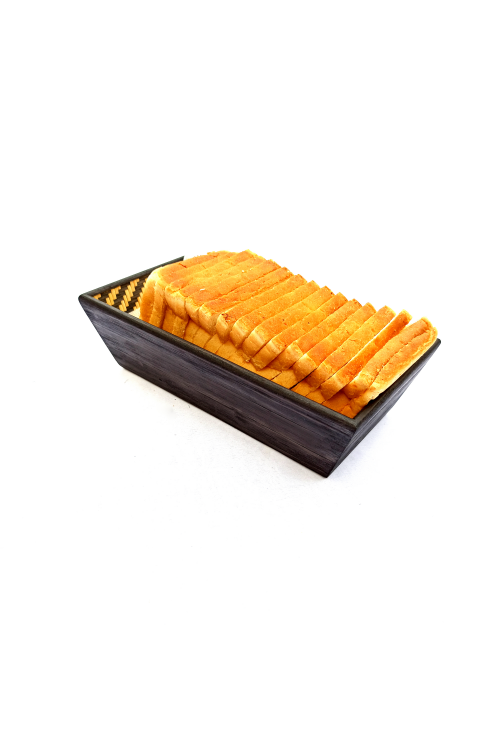 Handmade Bamboo Cereal Basket (Black)