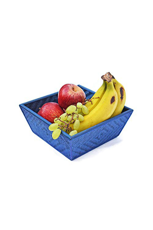 Handmade Bamboo Fruit Basket - Medium (Indigo)