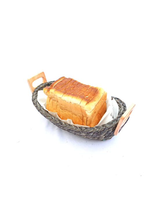 Handmade Sabai Grass Bread Basket - Small (Black)