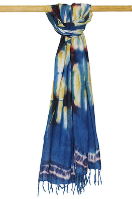 Creative Bee 'BAMBOO' Natural Dye Shibori Cotton Stole