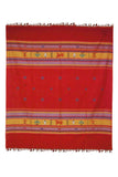 Orange-Extra-Weft-Handwoven-Double-Bed-Cover
