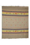 Beige-Extra-Weft-Handwoven-Double-Bed-Cover