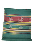 Green-Extra-Weft-Handwoven-Single-Bed-Cover