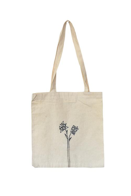 Okhai 'Geometric Bloom' Pure Cotton Tote Bag