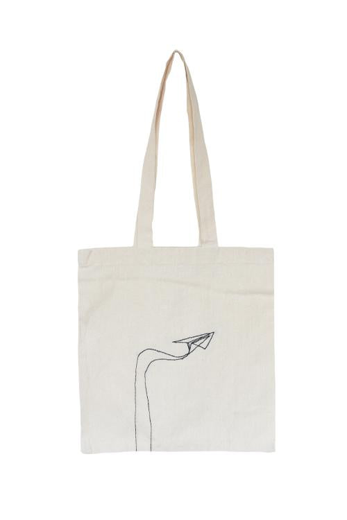 Okhai 'Paper Plane' Pure Cotton Tote Bag