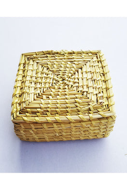 Handcrafted-Sikki-grass-Square-Box