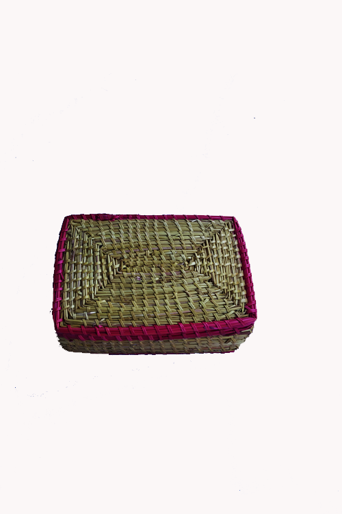 Handcrafted-Sikki-grass-Square-Box-1