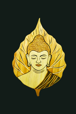 Handcrafted-Sikki-grass-Budhha-Painting