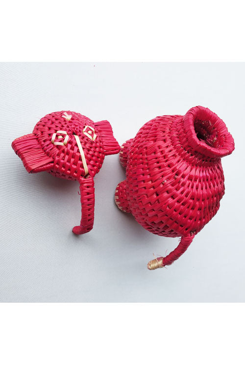 Handcrafted-Sikki-grass-Elephant-container-2