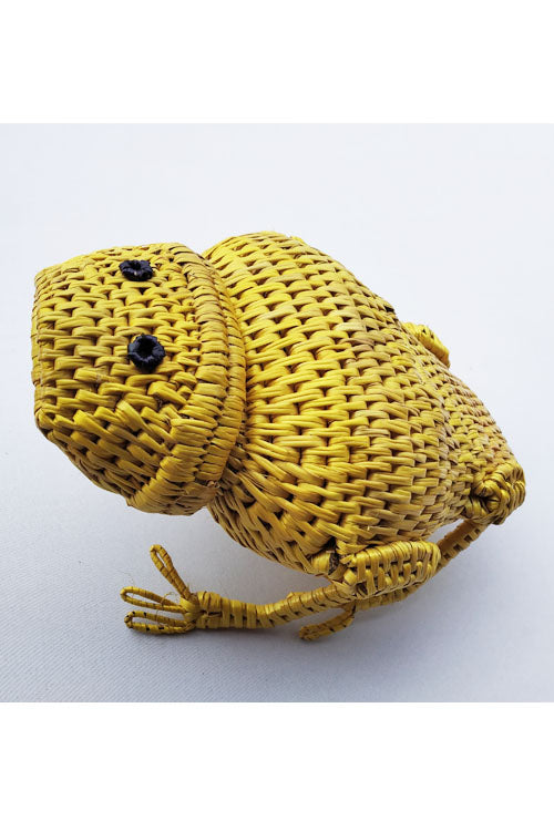 Handcrafted-Sikki-grass-Frog-Container