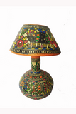 Hand-Painted and Hand-Crafted Papier Mache Table Lamp-2