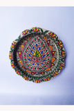 Hand-Painted and Hand-Crafted Papier Mache Plate-4