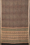 Natural Dye Block Print Cotton Sari-2