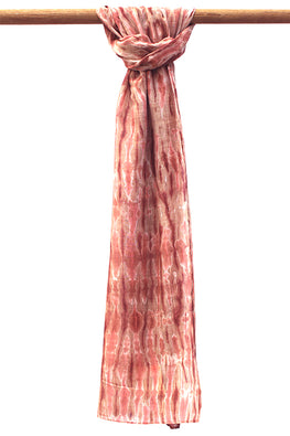 Creative Bee Natural Dye Shibori Cotton x Silk Stole
