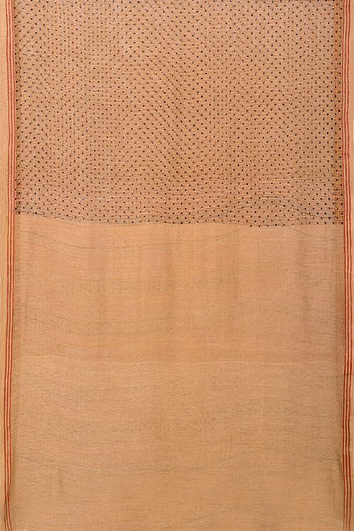 Natural Dye Block Print Silk Sari-6