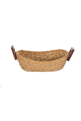 Handmade Sabai Grass Bread Basket - Small (Natural)