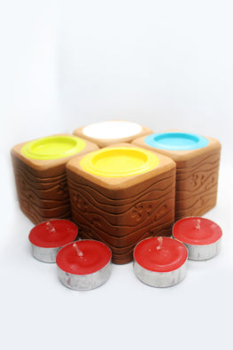 Craftlipi BLISS SQUARE Handcrafted Terracotta Candle Holder Online