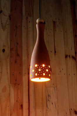 Craftlipi BOT Handcrafted Terracotta Hanging Ceiling Lamp Online