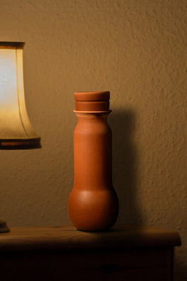 Buy Craftlipi BULB Terracotta Water Bottle Online Clay Water Bottle