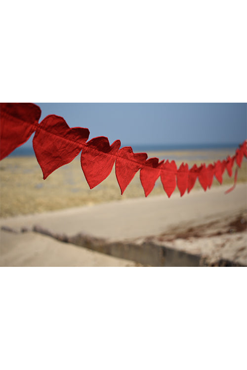 Okhai 'True Love' Heart-Shaped Pure Cotton Bunting