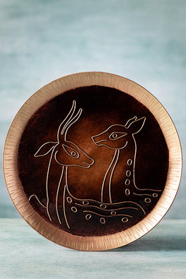 COPPER ENAMEL BROWN ANIMAL SERIES-DEER