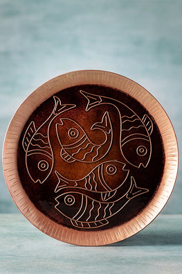 COPPER ENAMEL BROWN ANIMAL SERIES- FISH