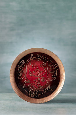COPPER ENAMEL RED ANIMAL SERIES- FISH