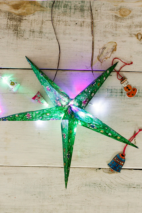 Studio Moya ' Star Of Bethlehem - Green' Christmas Tree Topper Lighting
