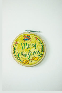 Merry Christmas Hand Painted On Leather Christmas Wall Decoration Frame Online