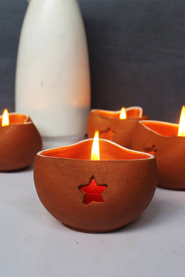 Craftlipi CHIRAG 3 Candle Holder (Set of 4)