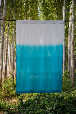 Okhai 'Wafting' Pure Cotton Ombré Curtain