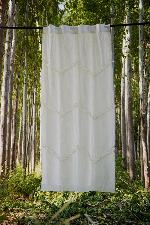 Okhai 'Wuthering' Pure Cotton Curtain
