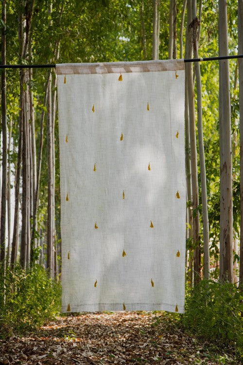 Okhai 'Amber' Pure Cotton Curtain