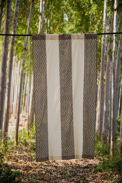 Okhai 'Robust' Pure Cotton Hand Block Printed Curtain