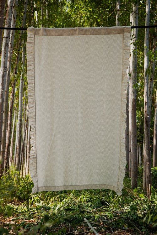 Okhai 'Mellow' Pure Cotton Ikat Curtain