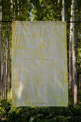 Okhai 'Auburn' Pure Cotton Shibori Curtain