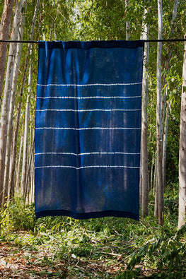 Okhai 'Astral' Pure Cotton Tie-Dye Curtain