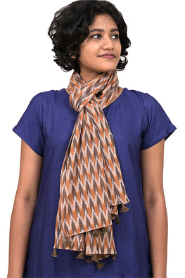 Creative Bee 'RHYTHM' Safe Dye Ikat Cotton Stole
