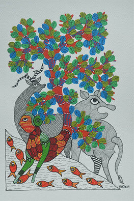 Chhoti Tekam Traditional Gond Painting-3