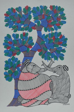 Chhoti Tekam Tribal Gond Painting-6