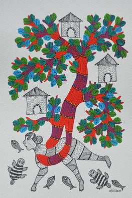 Chhoti Tekam Beautiful Traditional Gond Art-10
