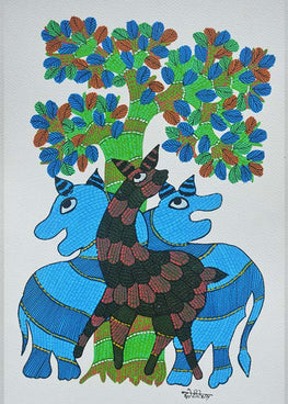 Chhoti Tekam Traditional Gond Art-17
