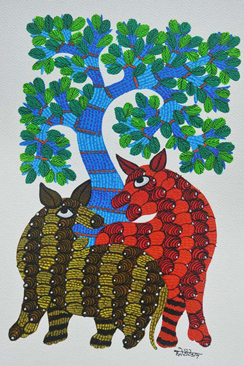 Chhoti Tekam Traditional Gond Painting-18